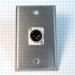 HAVE 1Gang Stainless Wallplate 1XLRM