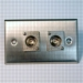 HAVE 1Gang Stainless Wallplate 2BNCF