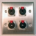 HAVE 2Gang Stainless Wallplate 4TRSF