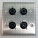 HAVE 2Gang Stainless Wallplate 4Combo
