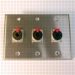 HAVE 3Gang Stainless Wallplate 3TRSF