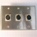 HAVE 3Gang Stainless Wallplate 3XLRF