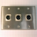 HAVE 3Gang Stainless Wallplate 3XLRM