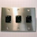 HAVE 3Gang Stainless Wallplate 3BG XLRM