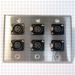 HAVE 3Gang Stainless Wallplate 6BG XLRF