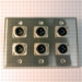 HAVE 3Gang Stainless Wallplate 6XLRM