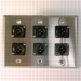 HAVE 3Gang Stainless Wallplate 6BG XLRM