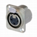 Neutrik NC3FD-LX 3-Pole XLR Female Chassis Receptacle Solder  Nickel/Silver