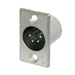 Neutrik NC4MP 4-Pole Male XLR Receptacle Nickel/Silver