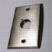 WALL PLATE SINGLE GANG 1DL HOLE STAINLESS OR BLACK