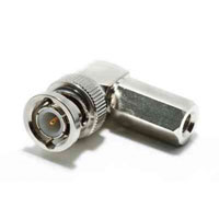 BNC Male 50 Ohm Fast Fit Right   Angle For RG59