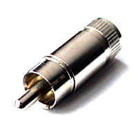 RCA Male Cable End