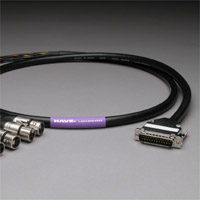 Canare Analog Audio Snake Cable 25Pin DSub to 8 XLR Female 15 FT