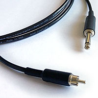 "Flexygy Audio Interconnect Cable RCA Male to 1/4"" TS Male 1 FT"