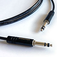 "Flexygy 1/4"" Longframe TRS Audio Patch Cable 2 FT"