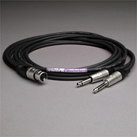 "Canare Audio Insert Cable XLR Female to 2 1/4"" TS Male 6 FT"