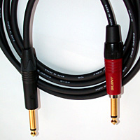 "Canare GS-6 Instrument Cable 1/4"" TS to 1/4"" TS Silent 2 FT"