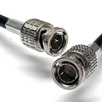 Belden 1505F HD-SDI RG59 Video Cable with Canare BNC - 1 FT
