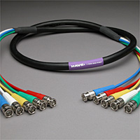 Canare Slim 5-Channel Component Video Cable BNC-BNC 15 FT