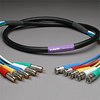 Canare Slim 5-Channel Component Video Cable BNC-RCA 25 FT