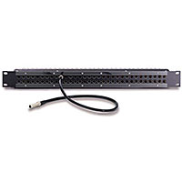 Audio Accessories 2x32 1RU Mid-Size Video Patchbay with ADC Normalled, Terminated Jacks