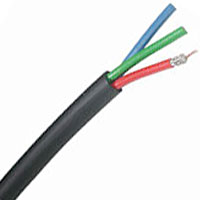 Belden 1277R 25 AWG High Resolution Component Video Mini Cable  1000 FT Black