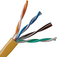 Belden 1583A Cat5E DataTwist 24AWG Solid 4PR U/UTP PVC Orange 1000 FT Box