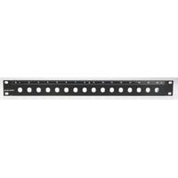 Canare 161U A/V Panel 1Ru 16 Position Chassis Mount Blank Panel