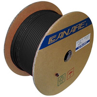 Canare L2B2-AT Microphone Cable 2-Conductor 25 AWG Foil Shield - 200M (656 ft) Reel
