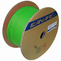 Canare L-4E6S Starquad Microphone Cable Green - 200M (656 ft) Reel