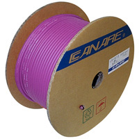 Canare L-4E6S Starquad Microphone Cable Purple - 200M (656 ft) Reel