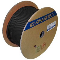 Canare L-5CFB SDI RG6 Video Coax Cable 18AWG Black - 300M (984 ft) Reel