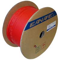 Canare LV61S RG59 Coaxial Video Cable 24G Red 153M (500ft) Reel