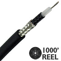 Lake AVB20GCT 20G Instrument/Guitar Cable, Black - 1000 FT