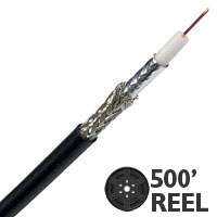 Lake AVB23HDTV 23G High Definition Mini Coaxial Cable - 500 FT