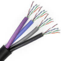 Lake Cable AVB4TCAT5E 4-Channel 24AWG Tactical Cat5E Cable