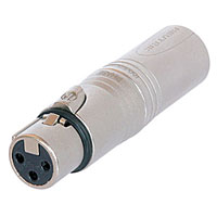 Neutrik 3-Pin Male XLR to 3-Pin Female XLR Adapter