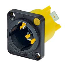 "Neutrik NAC3MPX powerCON TRUE1 Receptacle - Male, Power In - 1/4"" flat tab terminals"