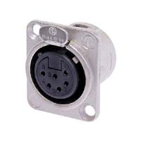 Neutrik NC6FD-L-1 6-Pole Female XLR Panel Mount Receptacle Solder Cups