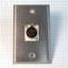 HAVE 1GANG STAINLESS WALLPLATE 1XLRF From HAVE Incorporated