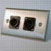 HAVE 1GANG STAINLESS WALLPLATE 2BG XLRM From HAVE Incorporated