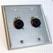 HAVE 2GANG STAINLESS WALLPLATE 2COMBO From HAVE Incorporated