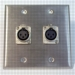 HAVE 2GANG STAINLESS WALLPLATE 2XLRF From HAVE Incorporated