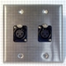 HAVE 2GANG STAINLESS WALLPLATE 2BG XLRF From HAVE Incorporated
