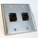HAVE 2GANG STAINLESS WALLPLATE 2BG XLRM From HAVE Incorporated