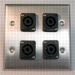 HAVE 2GANG STAINLESS WALLPLATE 4NL2MP From HAVE Incorporated