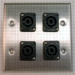 HAVE 2GANG STAINLESS WALLPLATE 4NL4MP From HAVE Incorporated