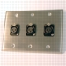 HAVE 3GANG STAINLESS WALLPLATE 3BG XLRF From HAVE Incorporated
